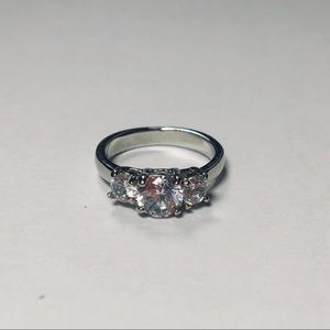 Sterling Silver Engagement Style Ring